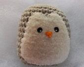 crochet penguin amigurumi toy or ornament // light gray