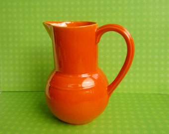 Vernonware Early California Vernonware Pitcher Orange Beautiful Piece Art Pottery