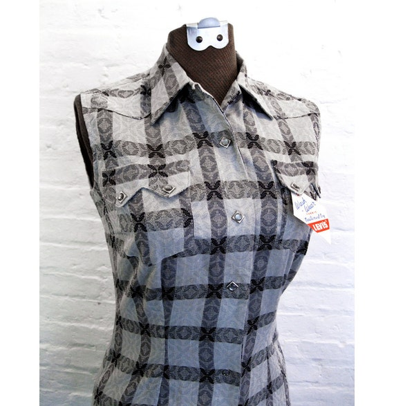 RESERVED for Babs Do Not Purchase vintage1950s LEVIS  Deadstock shirt Ladies 50s Western wear Shirt New Tags