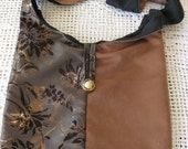 SHOULDER BAG / SIDE BAG /TOTE IN SHADES OF BROWN AND GOLD, FULLY LINED