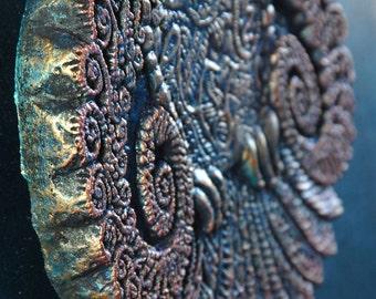Psychic Owl Wall Art, Stone Garden Art Sculpture, Outdoor Wall Art, Garden Art, Owl Wall Plaque