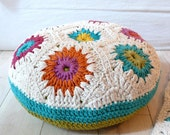 Floor Cushion Crochet-hexagons