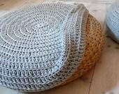Crochet stool cover - Grey
