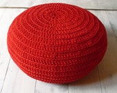 Floor Cushion Crochet - LAST ONE AVAILABLE in red