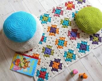 Crochet rug-Granny Square