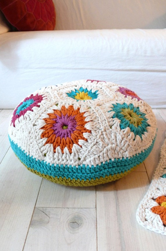 Floor Pillow Crochet Pattern : Floor Cushion Crochet-hexagons