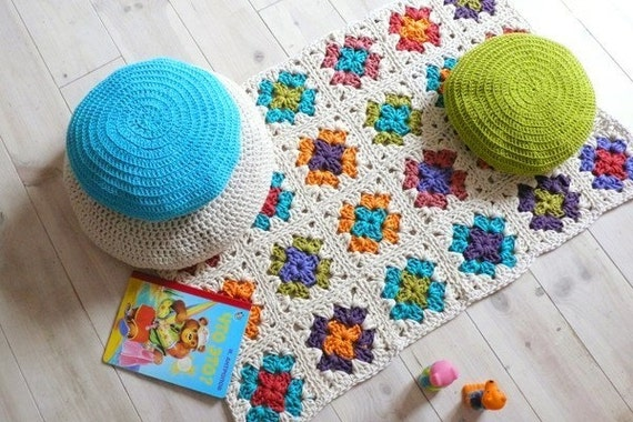 RESERVED for Diane Lockley-Marshall - Crochet rug-Granny Square