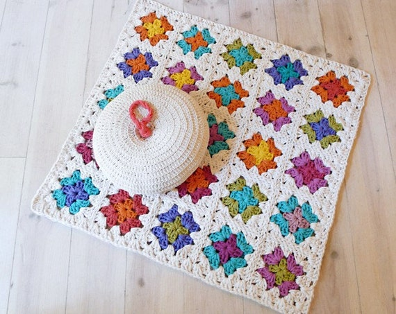 Crochet Granny Square Rug Patterns : Rug Crochet Granny Square