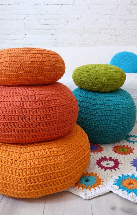 Floor Pillow Crochet Pattern : Floor Cushion Crochet