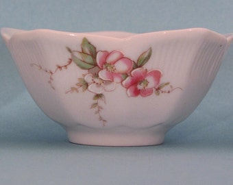 Dipping sauce bowls with shabby chic Belle Francais pink blossom design
