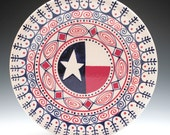 Red White and Blue Americana Plate