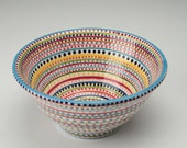 Serving Stripes and Dots Bowl