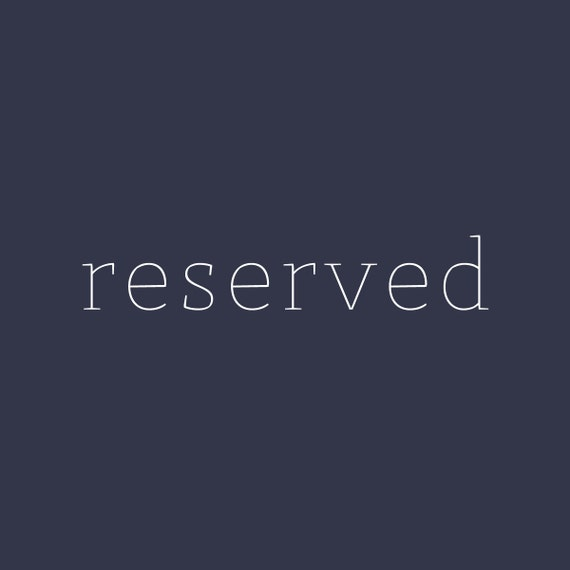 reserved for Kirsten