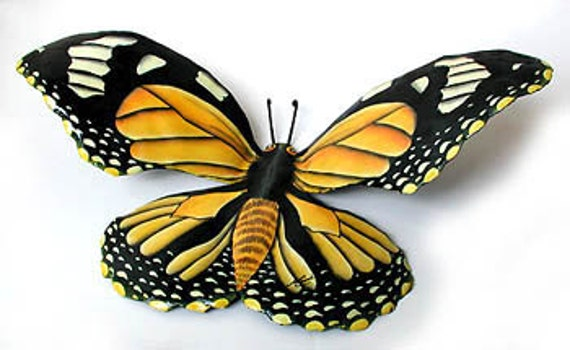 large monarch butterfly metal wall hanging 34 by tropicaccents. Black Bedroom Furniture Sets. Home Design Ideas