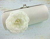 RESERVED for Lauren - Custom Bridesmaid Bride Color Satin Purse - Choose your color and design to match your wedding colors