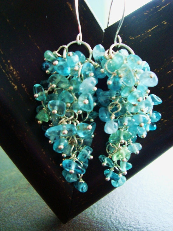 Milla Milla Falls - Waterfall Aquamarine Gemstones and Sterling Silver