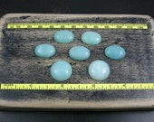 Amazonite Cabochon oval round 7 pieces