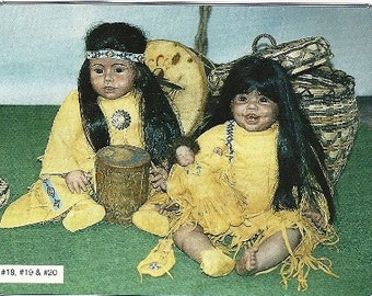 Apache Children Dolls Three boy and Girl and baby doll