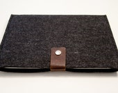iPad Case - Felted Wool and Leather