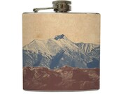 Mountain Landscape Whiskey Flask Traveler Camping Hiking Gift Stainless Steel 6 oz Liquor Hip Flask LC-1041 - LiquidCourage
