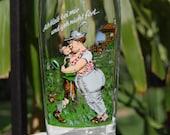 Vintage German Beer Glass