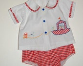 Vintage 1960s Baby  clothes set