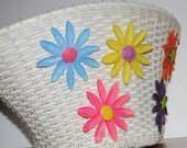 Vintage Schwinn Flower  Bicycle Basket