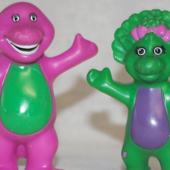 Barney And Baby Bop Toy Figures By Ifoundthis4u On Etsy