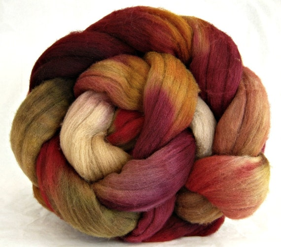Rambouillet wool roving, combed top: spinning fiber