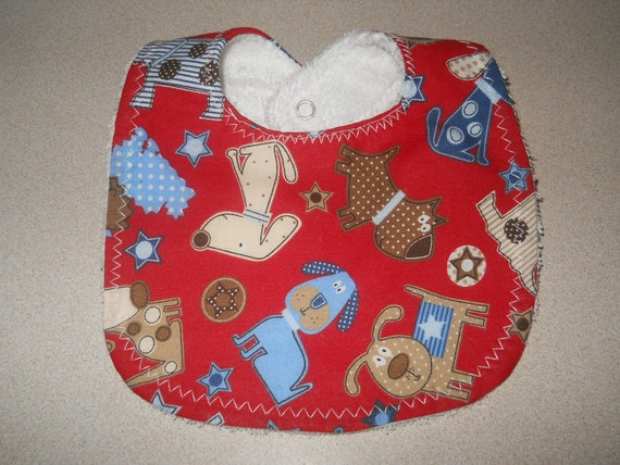"Baby Bib - Boutique Drooler Bib - ""American Dog"" Baby Shower Gift - LOW Shipping"