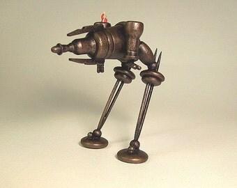 Steampunk Bipedal Chicken Walker War Machine With Pilot