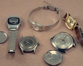 Lot of vintage mens and ladies watches, Citizen, Timex, Dolmy