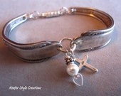 Spoon Bracelet with Cross charm