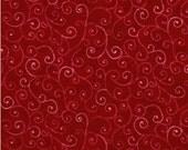 Moda Marble Swirls Christmas Red 1/2 yard