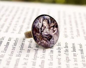 A Long Tale - Alice In Wonderland Ring