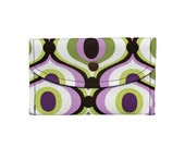 Orchid Groovy Business Card case, holder,  mini wallet, gift card wallet, USB wallet, envelope