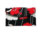 Business Card Case Red Peony  Mini Wallet Gift card holder USB wallet envelope