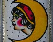 Gypsy Moon - Original Tattoo Flash