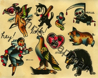 Heyyou Look Tattoo Flash