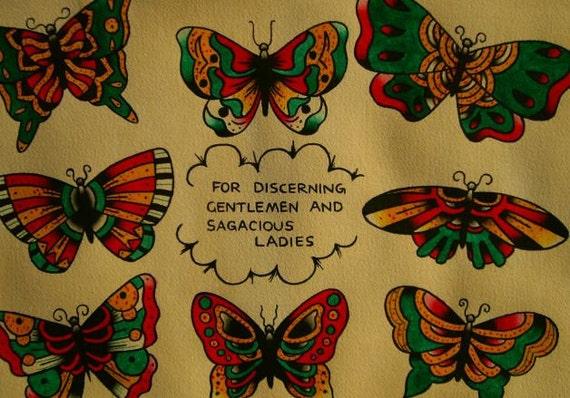 Traditional Butterfly Tattoo Flash: Butterfly Tattoo Flash Original