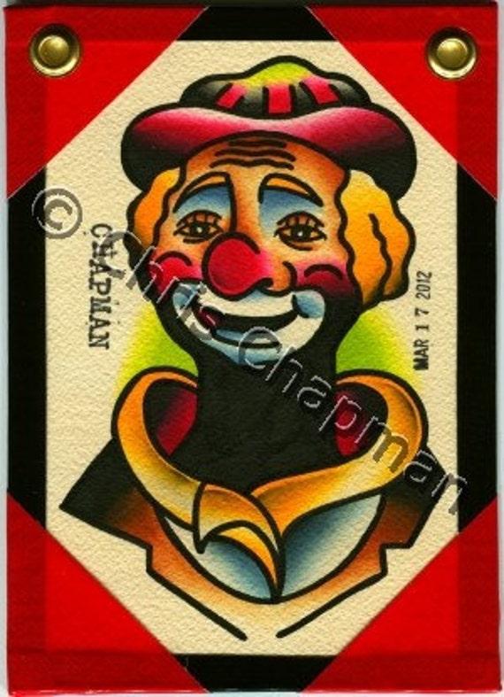 Clown Original Tattoo Flash