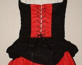 SALE Renaissance Pirate Corset and Skirt Red and BlackLadies Size 8