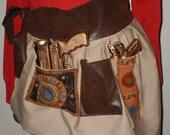 SALE 5 Dollars was 14 Dollars Steampunk Holster Skirt Post Apocalypse Wear Six Holster Pockets