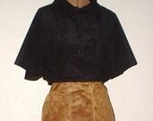 Black Kimono Sleeve Cropped Jacket Size 8 Made in America