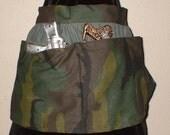 SALE 5 Dollars was 10 Dollars Steampunk Holster Skirt Post Apocalypse Wear Camo Green