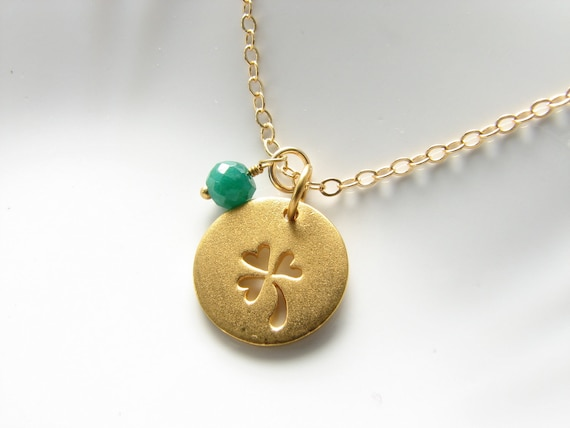 RESERVED LISTING for KARIN - Two Sterling Silver and Emerald Charm Necklaces