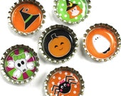 Halloween- Bottle Cap Magnets- Party Favors
