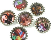 Wizard of Oz- Bottle Cap Magnets- Party Favors