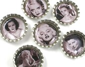 Old Hollywood- Bottle Cap Magnets- Marilyn Monroe included