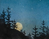 Night Sky Print by Deborah Olliff